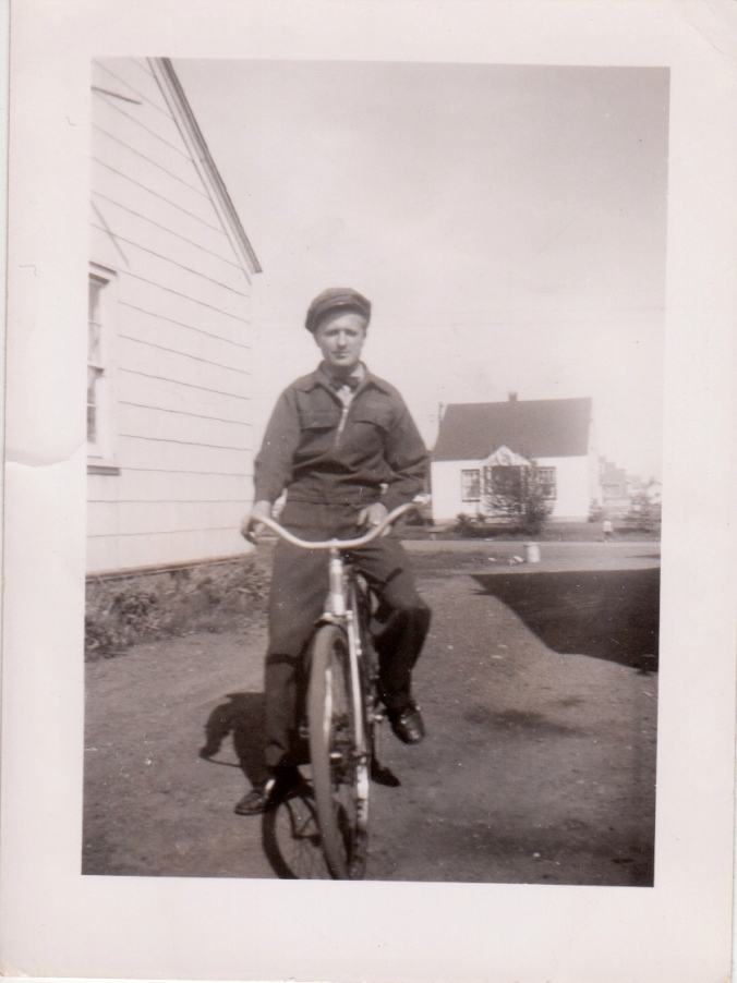 The Old Ma on his bike