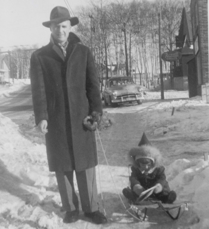 me & dad in winter
