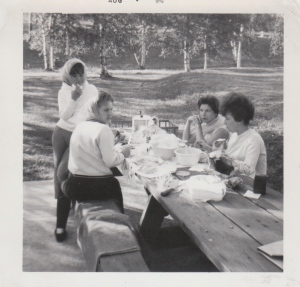 Evening picnic at Boulevard Lake.