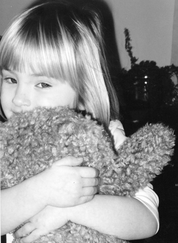 Mel hugging Teddy