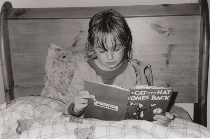 Mel Reading Cat in the Hat
