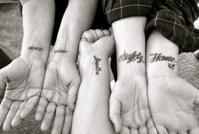 3 girls tattoos