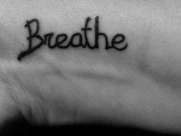 Aimee's breathe tattoo