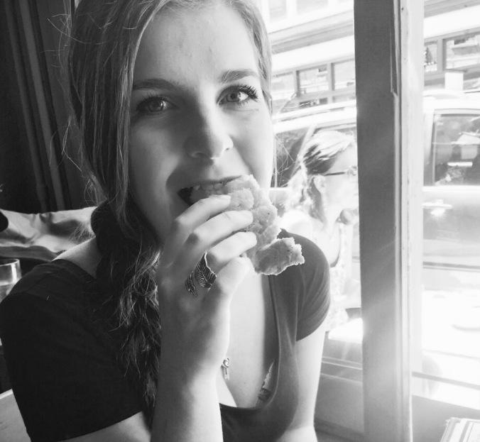 Miranda eating bread (1)