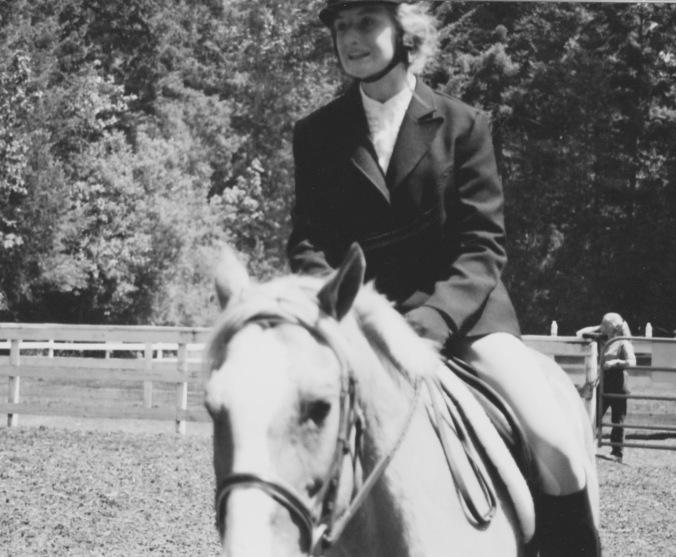 Mel on horse 1
